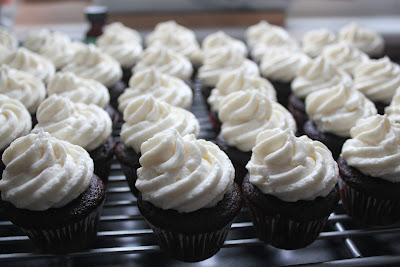 Mini peppermint mocha cupcakes