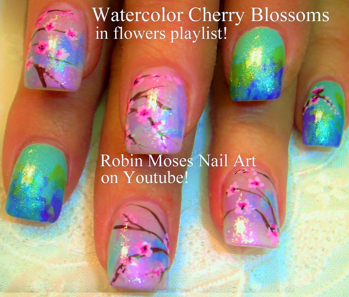 "Robin Moses Nail Art February 2015: Robin Moses Nail Art: ""cherry Blossom"" ""nail Art"" ""nails"