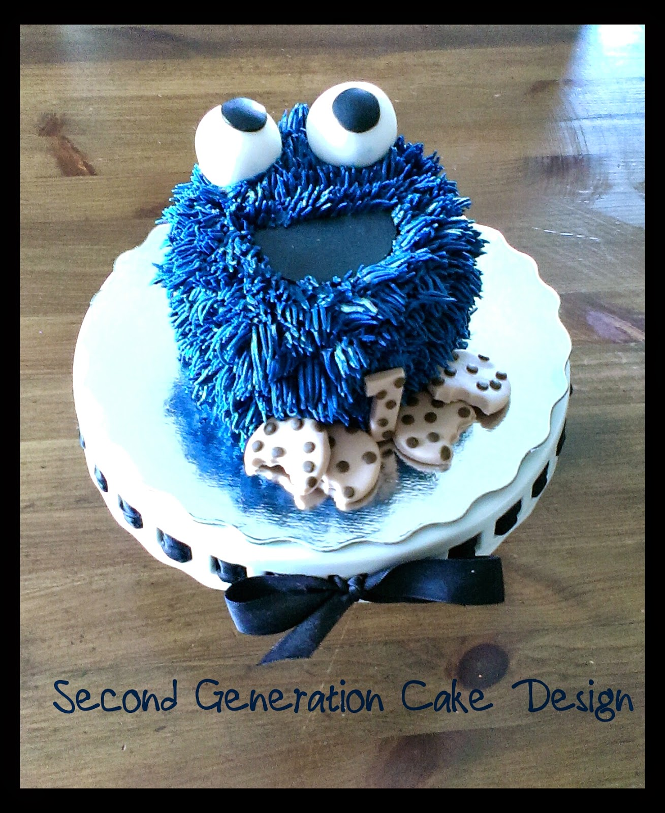 Second Generation Cake Design Cookie Monster 1st Birthday Cake