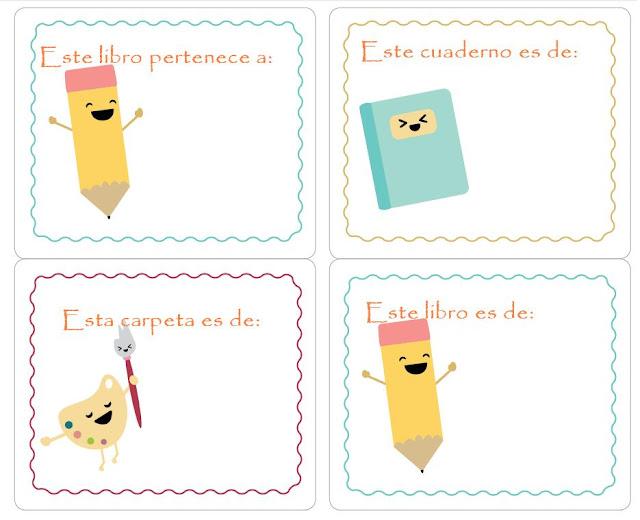 Etiquetas para cuadernos para imprimir de adolescentes - Imagui