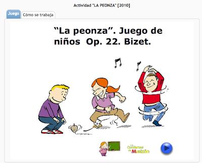 http://www.musicaeduca.es/recursos-aula/audiciones-clasicas/72-la-peonza#juego