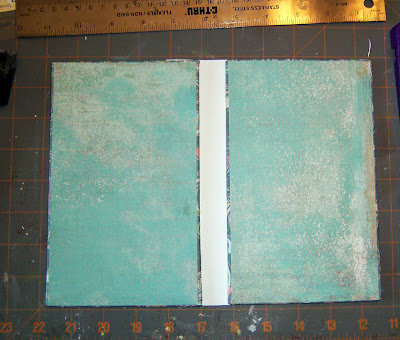 inside of book with spine attached