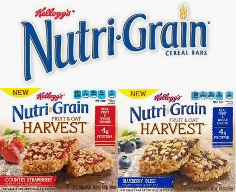 Kellogg's Nutri-Grain Fruit & Oat Harvest bars