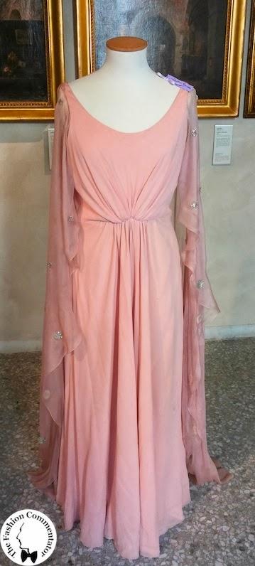Valentina Cortese - Mostra Milano - Valentino dress