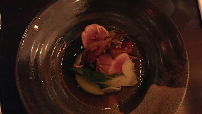 Quail  Breast and legs, broccoli, lime and peanut, Alimentum Restaurant Cambridge