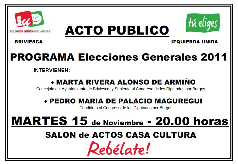 Acto ELECCIONES GENERALES 2011