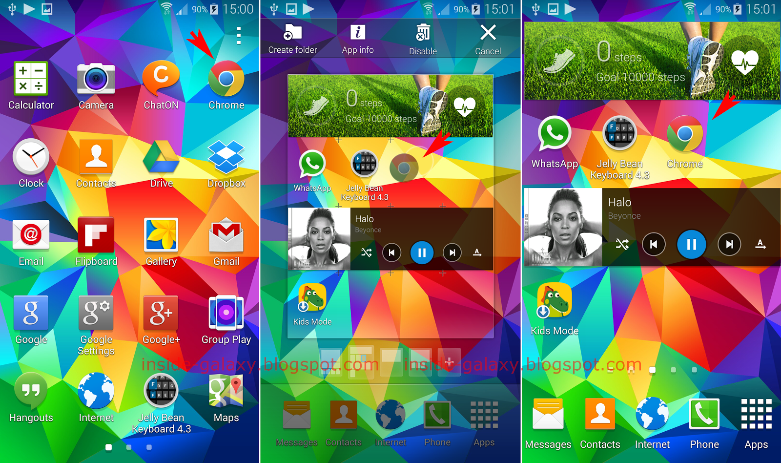 how to set home screen on galaxy s5