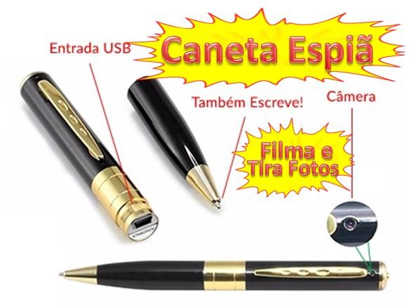 CANETA FILMADORA ESPIÃ