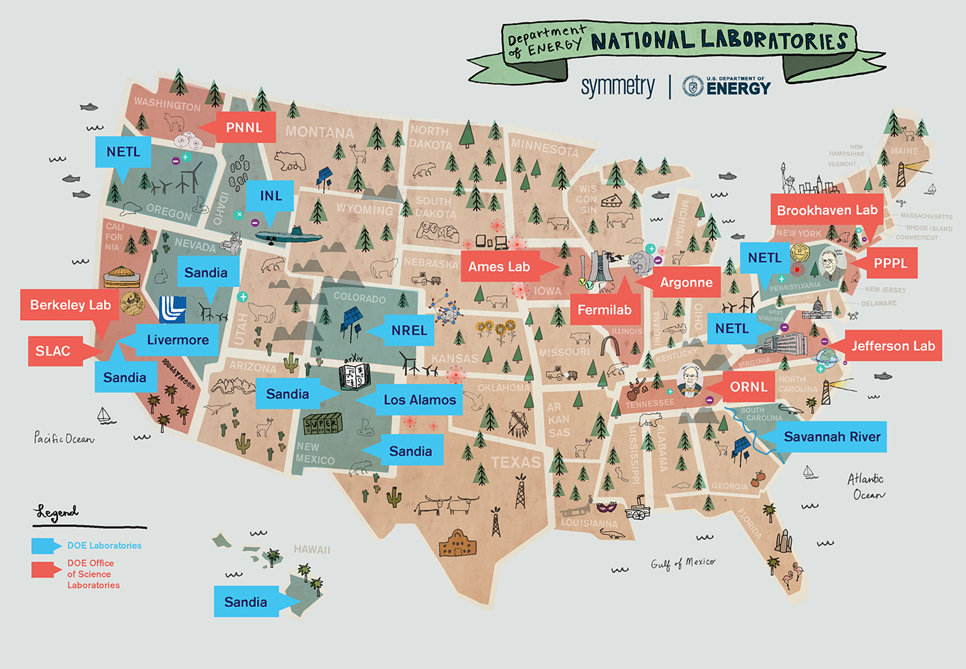 the map originally appeared on symmetry magazine the us department of energy has nurtured hubs of innovation