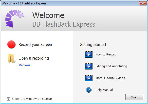 BB FlashBack Express Free Download,免費又好用的電腦螢幕錄影軟體工具下載,可錄製聲音旁白
