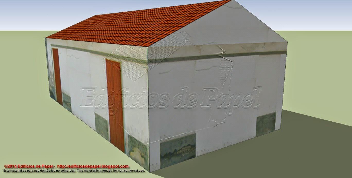 Casa de Pueblo 2 - Modelo de papel 1551