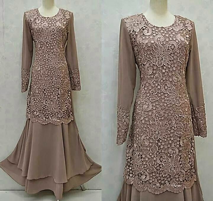 Baju Dress Muslimah Merah Ala Mawar Online Terkini!