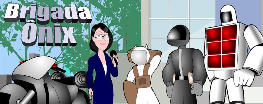 A Brigada Ônix - histórias em quadrinhos de humor e ficção científica