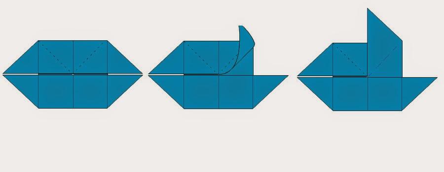 Bước 8: Ta gấp cạnh trên cùng bên phải lên phía trên sau đó lại trở về vị trí ban đầu, mục đích là để tạo nếp gấp.