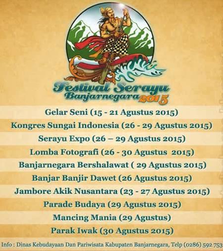 Kongres Sungai Indonesia 2015 Pertama Digelar, Bagian Festival Serayu Banjarnegara (FSB) - www.heru.my.id