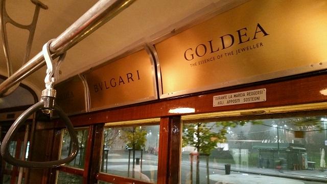 bulgari goldea profumo tram milano natale, veronique tres jolie