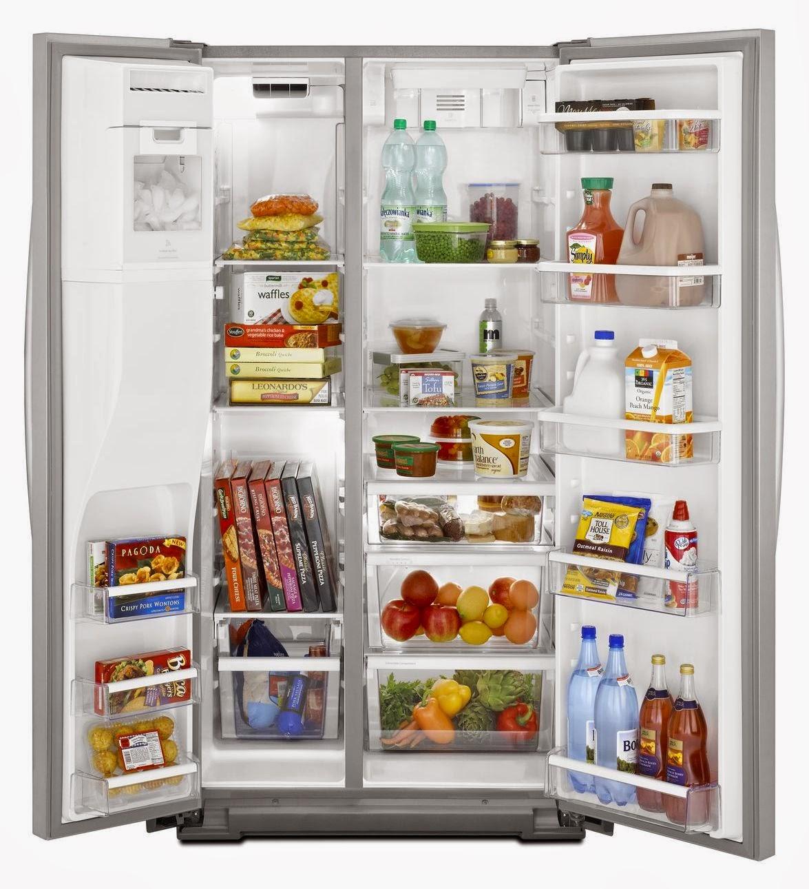 Top Ten Side By Side Refrigerators Whirlpool Refrigerator Brand Wsf26c2exf Whirlpool Side By Side