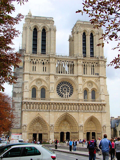 Notre Dame de Paris, the most famous Gothic cathedral in world, exemplifies all that is Gothic.