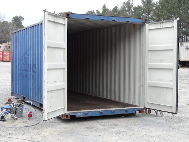 how to break into a shipping container