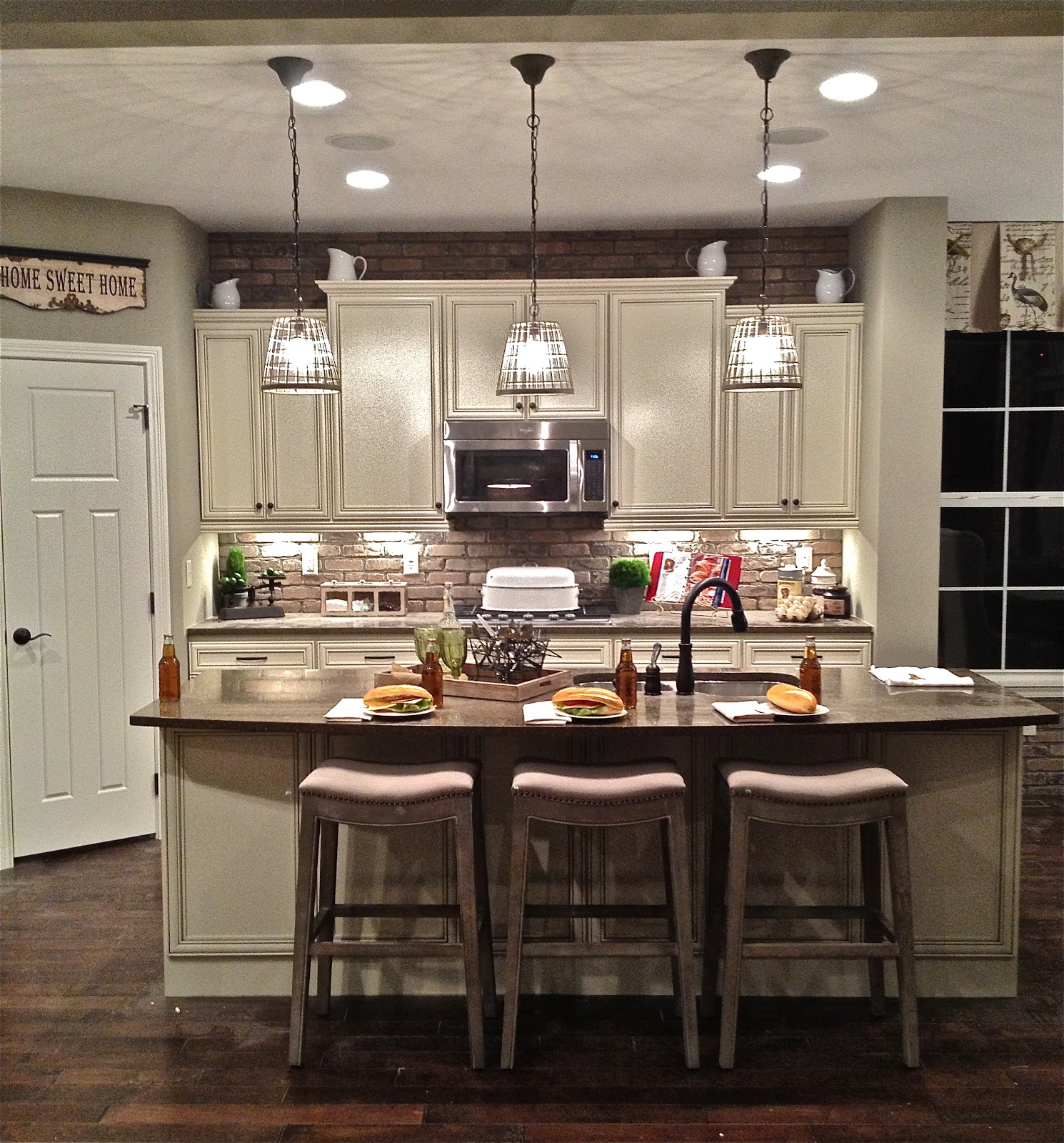 Kitchen Island Ideas Brick best pendant lighting for kitchen island pendant lights that blend
