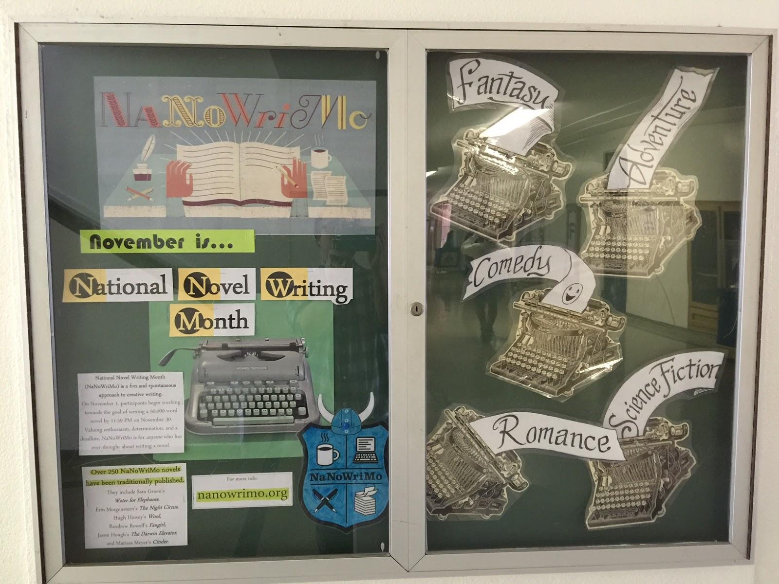 November Calendar Bulletin Board Ideas : Smells like library bulletin boards display november