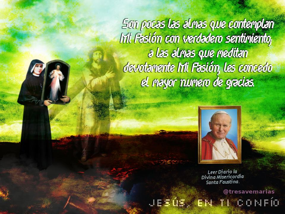 papa jesus y santa faustina