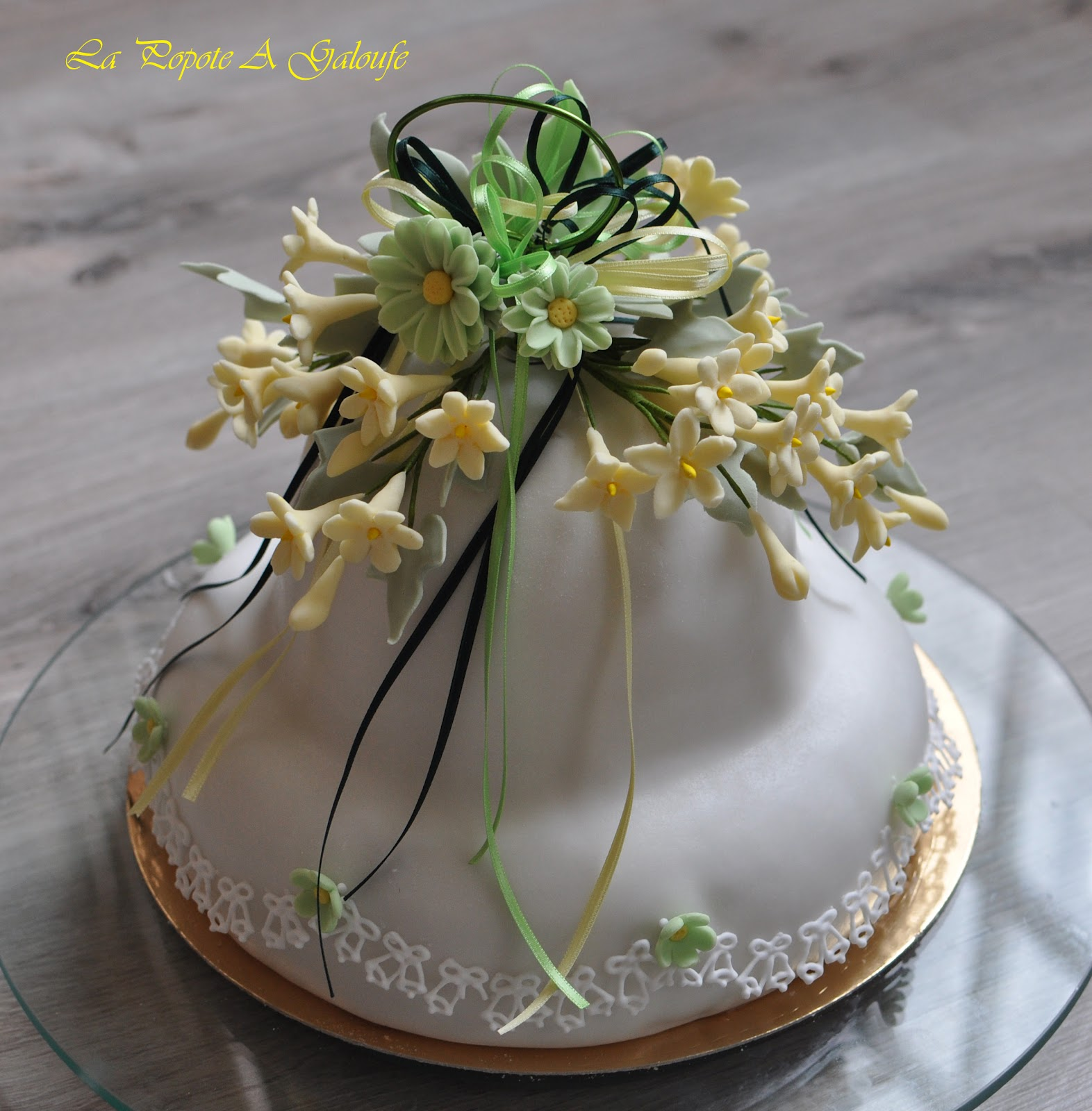 Kitchen Craft Cloche gateau en cramique sur pied sculpt