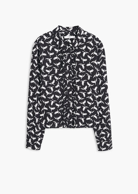 mango printed shirt, wing print shirt, bird wing shirt,