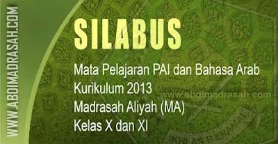 Silabus Kurikulum 2013 Mapel PAI Dan Bahasa Arab Untuk MA