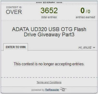 ADATA UD320 USB OTG Flash Drive Giveaway Part3 Winner