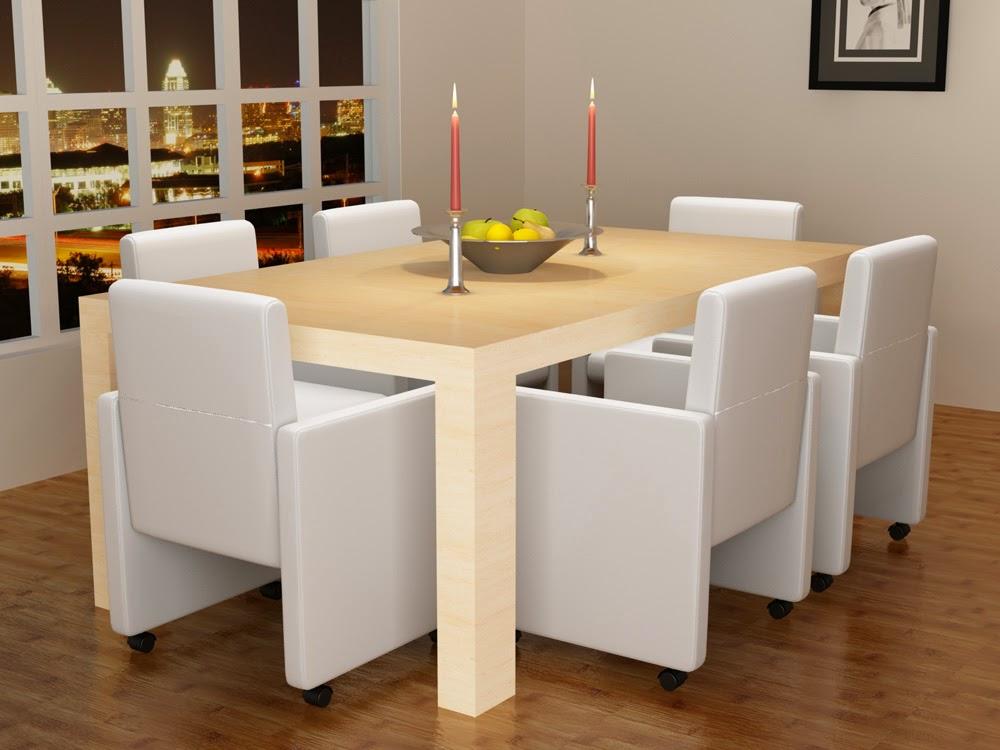 decco interieur 6 fauteuils de salon blancs simili cuir roulettes blanc ou noir. Black Bedroom Furniture Sets. Home Design Ideas