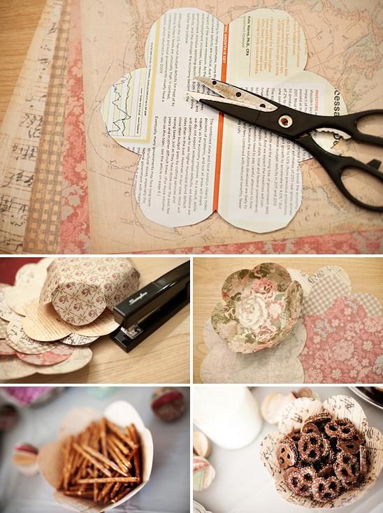 Happily ever crafter pinterest fail paper flower bowls - Decoracion para bautizo en casa ...