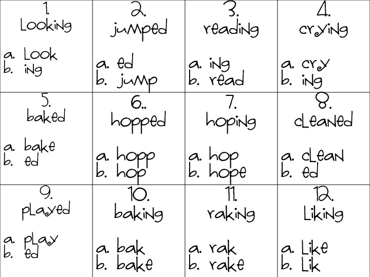 First Grade Fanatic Long Vowel Kids And Base Word Ending Activities