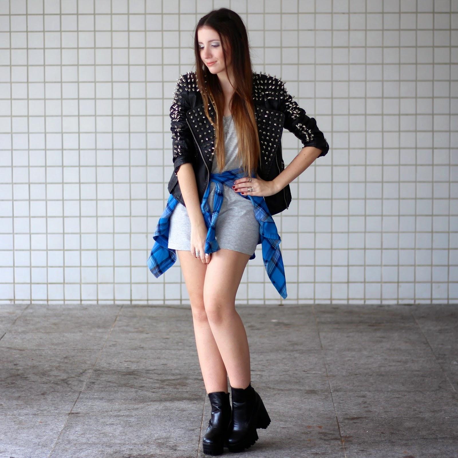 jaqueta com spikes