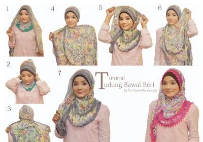 Cara Memakai Jilbab Bawal Beri Style
