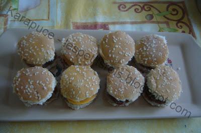 Mini hamburgers fait maison