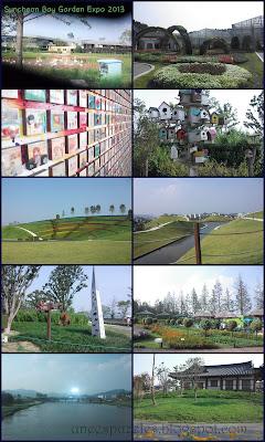 """Suncheon Bay Garden Expo 2013 merupakan sebuah pameran taman yang menampilkan berbagai seni dan teknologi penataan taman oleh seniman yang berasal dari berbagai negara di dunia. Di tempat itu ditampilkan keunikan dari taman yang juga mempresentasikan kebudayaan negara asal taman. Ada pengalaman yang mengena saat menjalankan misi. Kami begitu banyak mengambil foto pose melompat. Sangat banyak! Menjadi terbiasa dengan instruksi """"jump"""" yang diteriakkan juru foto kelompok kami, Dexter ssi ato Ton ssi. Akibatnya, seperti sebuah paranoid. Sedang berpose biasa dengan senyum mengembang namun ketika ada yang berteriak """"jump"""" seketika ekspresi wajahku berubah padam dan panik."""