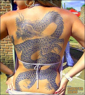 Tatuagens Femininas nas costas grandes