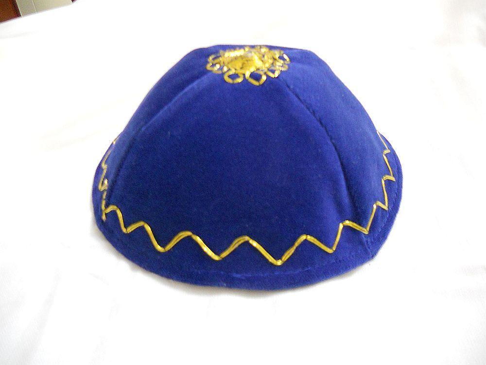 KIPPAH Terciopelo Azul Leal Filigree