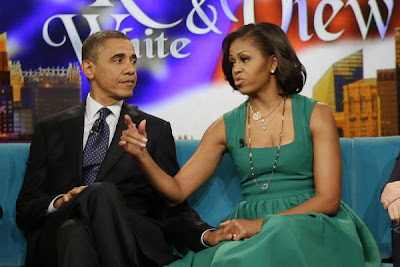 President Barack and Michelle Obama on the View