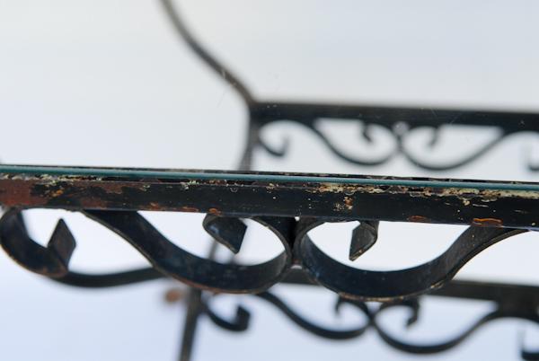 Heygreenie Vintage Shabby Metal Wrought Iron Table