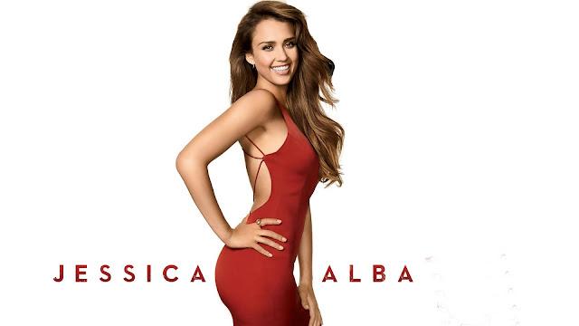 Jessica Alba Vestido Rojo