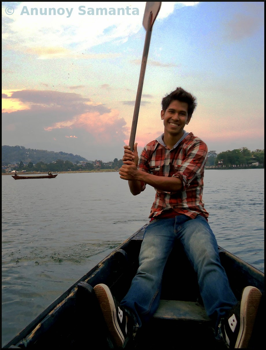 Our teenager Boatman from Pokhara