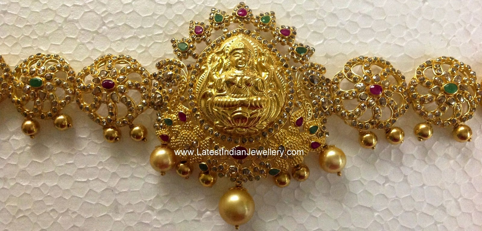 latest uncut diamond gold waist belt