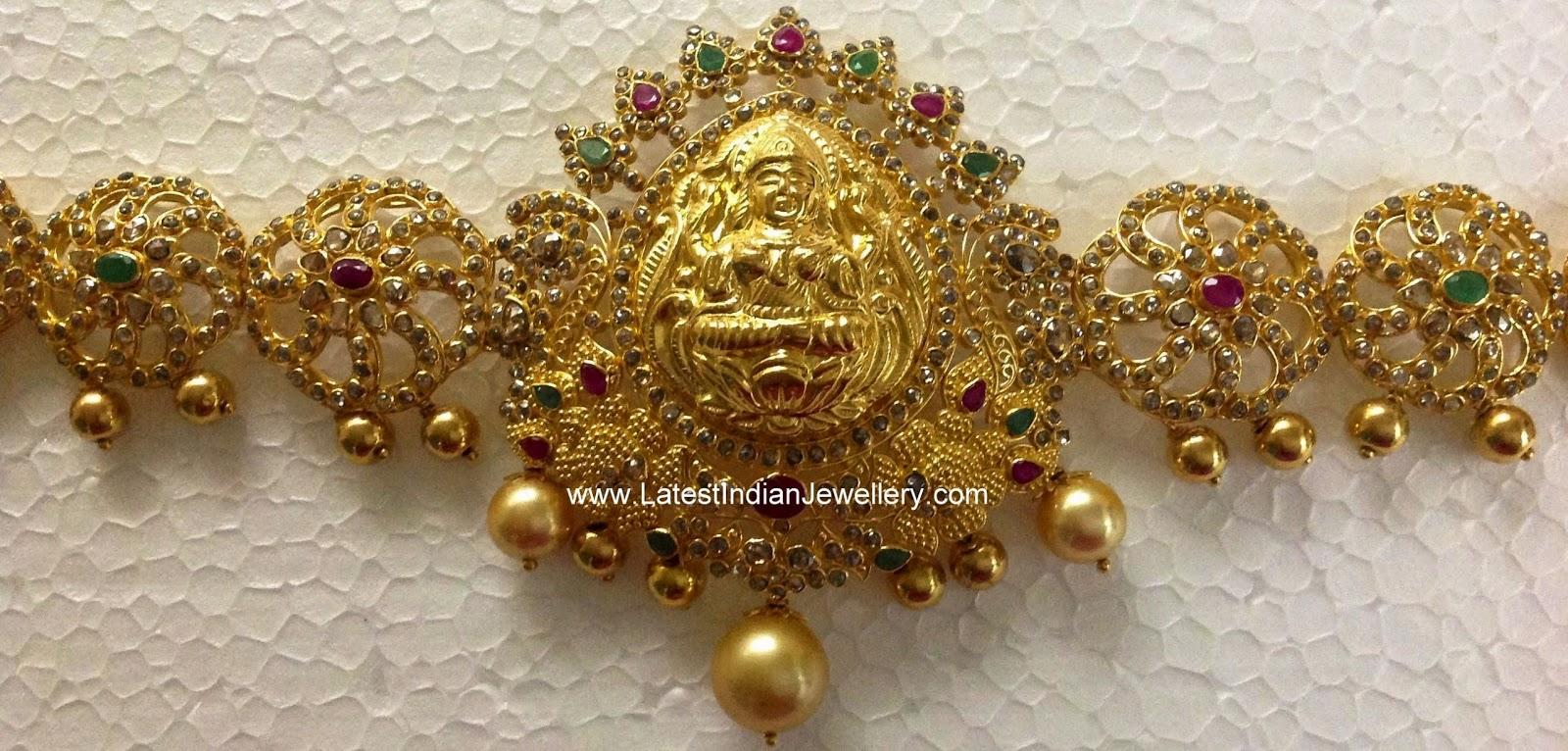 latest uncut diamond gold waist belt