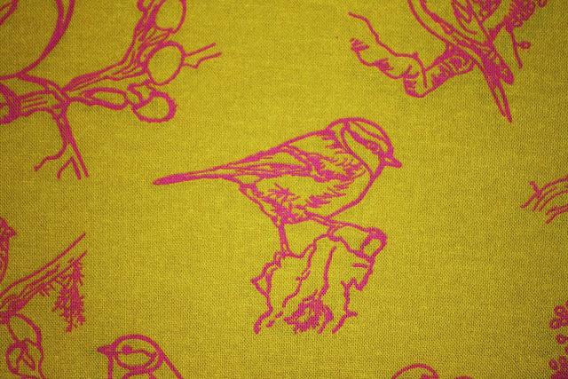 toile, designer fabric, costume textile, cotton, birds