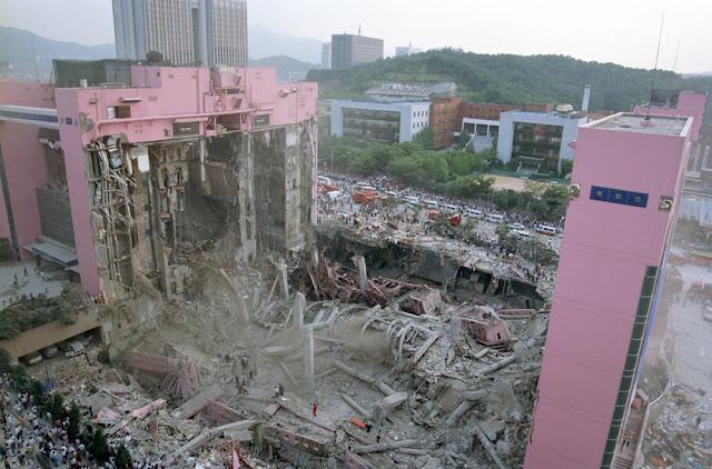 Tiendas Departamentales Sampoong derrumbadas en Seúl en 1995