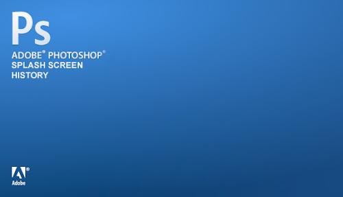 Adobe Photoshop Splash Screen History