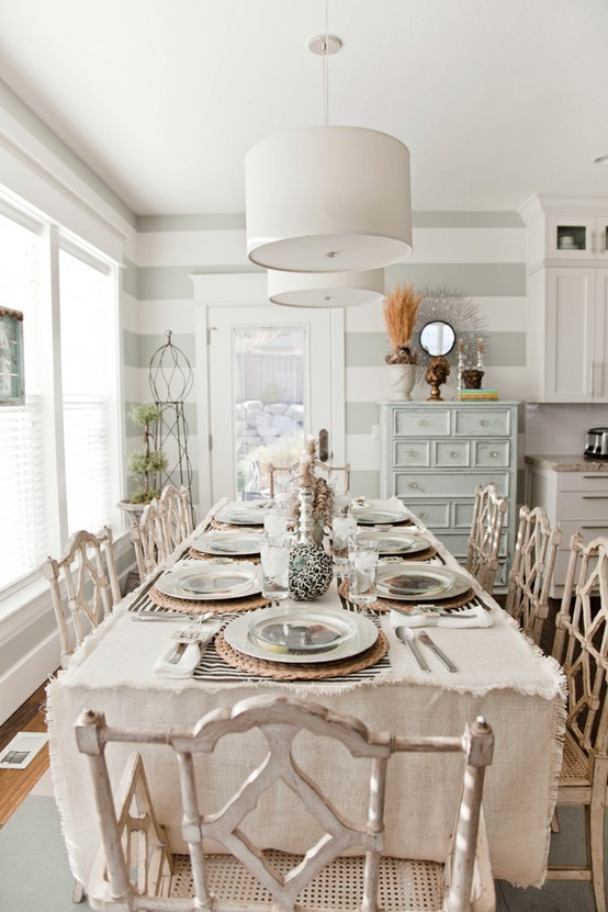 Interior styles designs for Shabby dining room ideas