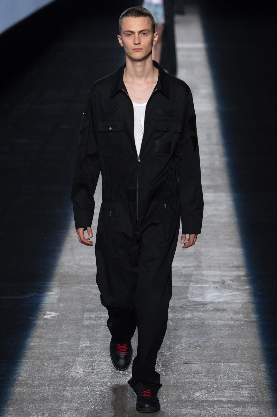 NYFW new york fashion week, black boiler suit streetwear menswear